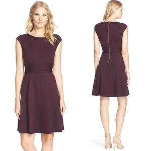 Eliza J Pintucked Waist Ponte Knit Fit Glare Dress